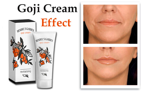Goji cream effects
