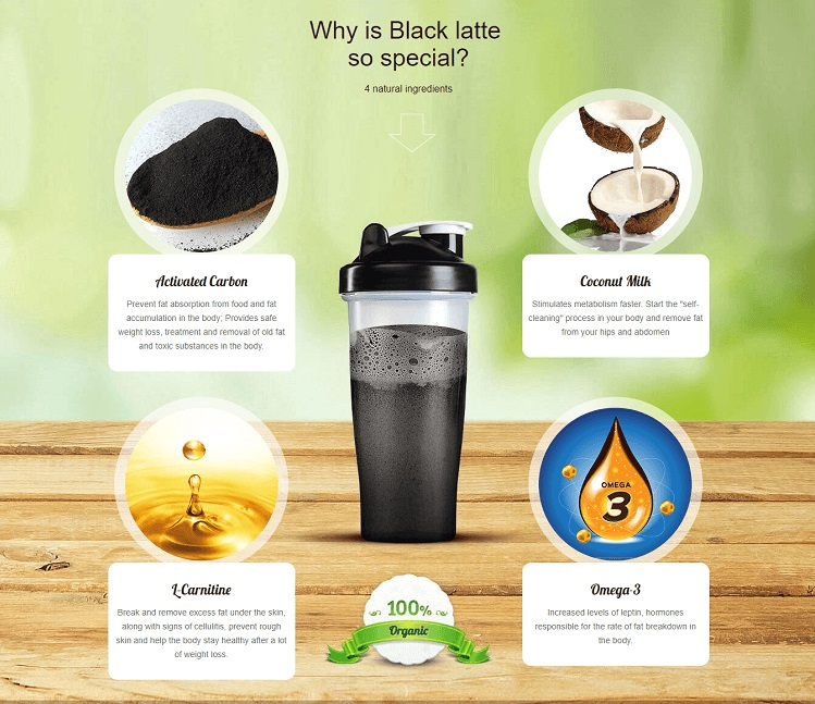 black latte ingredients